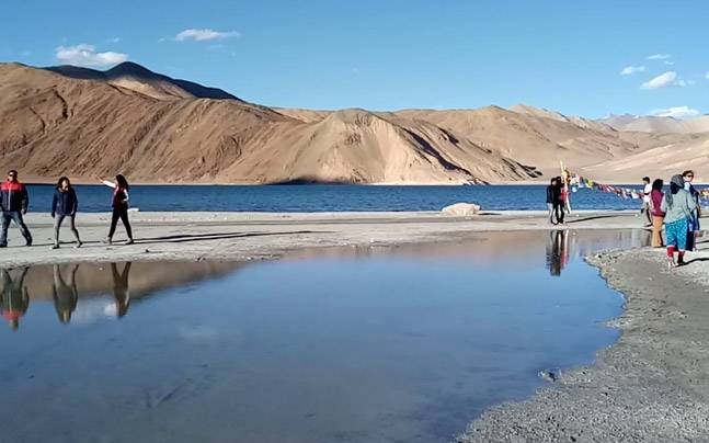 Ponder Into the Panorama of Pangong Lake